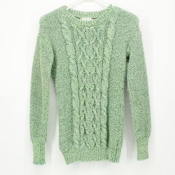 Ruby Moon Green Knit Sweater